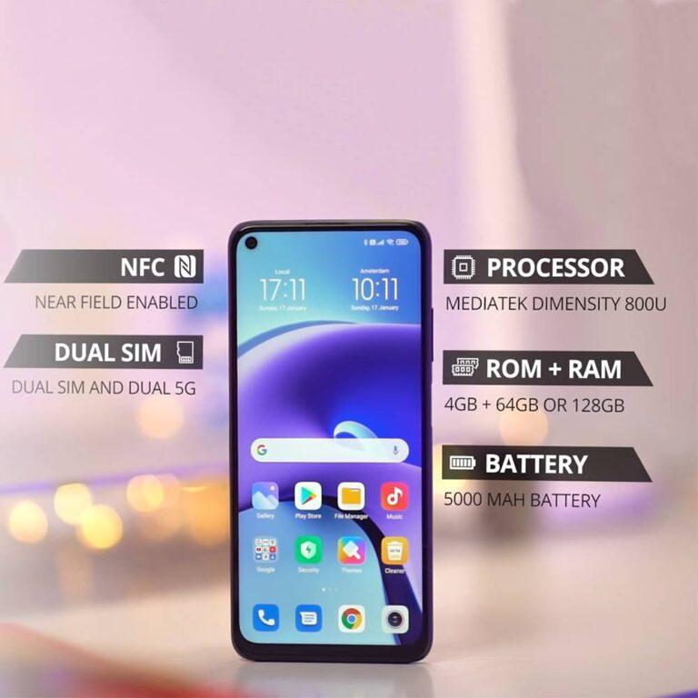 گوشی موبایل شیائومی Redmi Note 9T 5G M2007J22G ظرفیت 128 گیگابایت و رم 4 گیگابایت